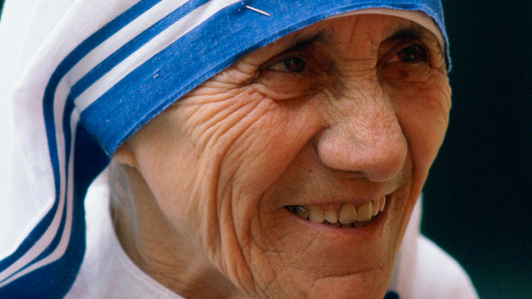 Mother Teresa - A woman of inner beauty - well known for her kindness and helping the poor