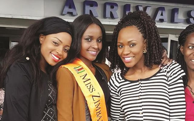 The Chosen One - From First Princess to Miss Zimbabwe 2014 - Tendai Bongani Hunda At the Airport