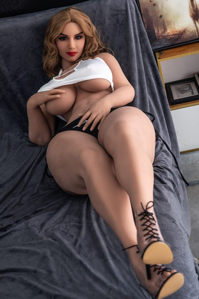She wishes you were there caressing her swollen horny boobs.